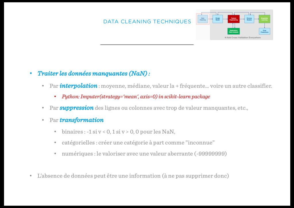 DATA CLEANING TECHNIQUES • Traiter les données ...