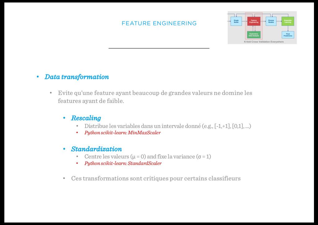• Data transformation • Evite qu'une feature ay...