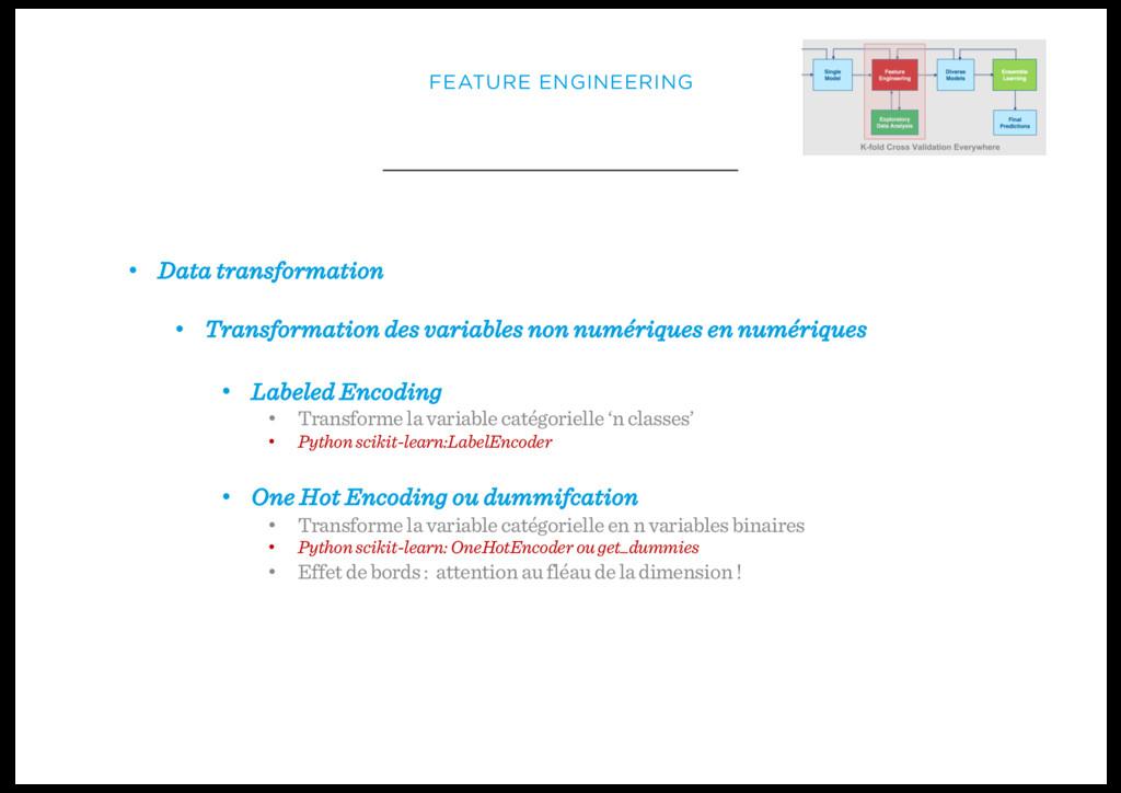 • Data transformation • Transformation des vari...