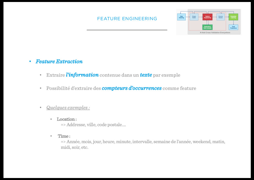 • Feature Extraction • Extraire l'information c...
