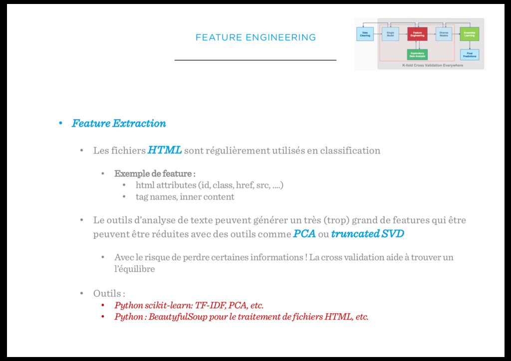 • Feature Extraction • Les fichiers HTML sont r...