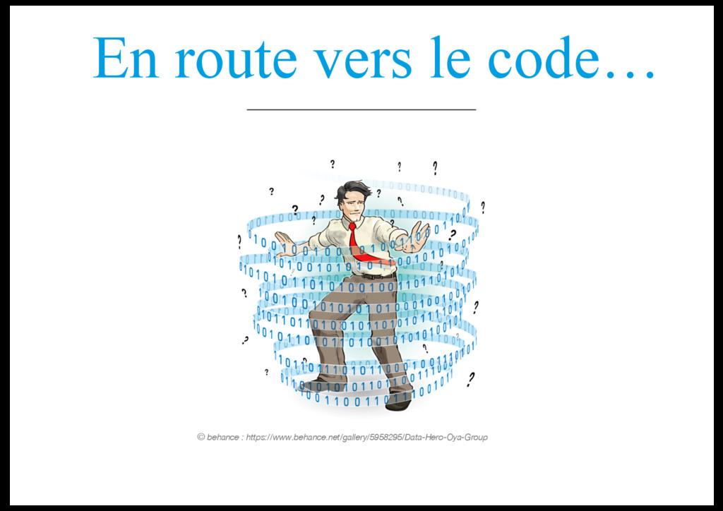 En route vers le code… © behance : https://www....