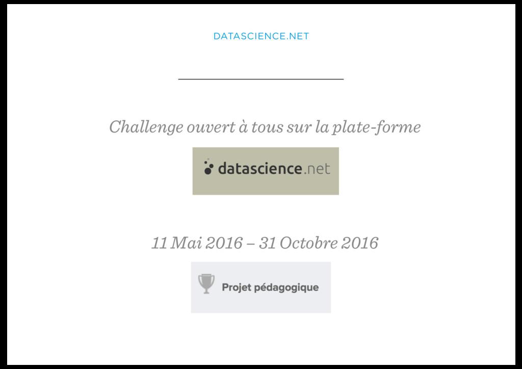 DATASCIENCE.NET Challenge ouvert à tous sur la ...