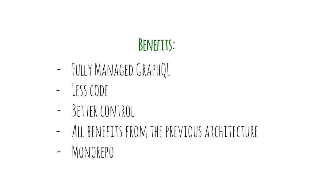 "- Fu""y Managed GraphQL - Less code - Better con..."
