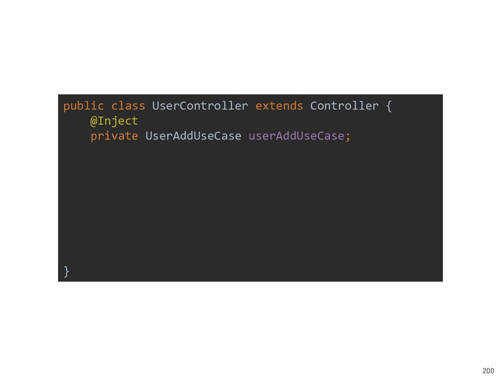 200 public class UserController extends Control...