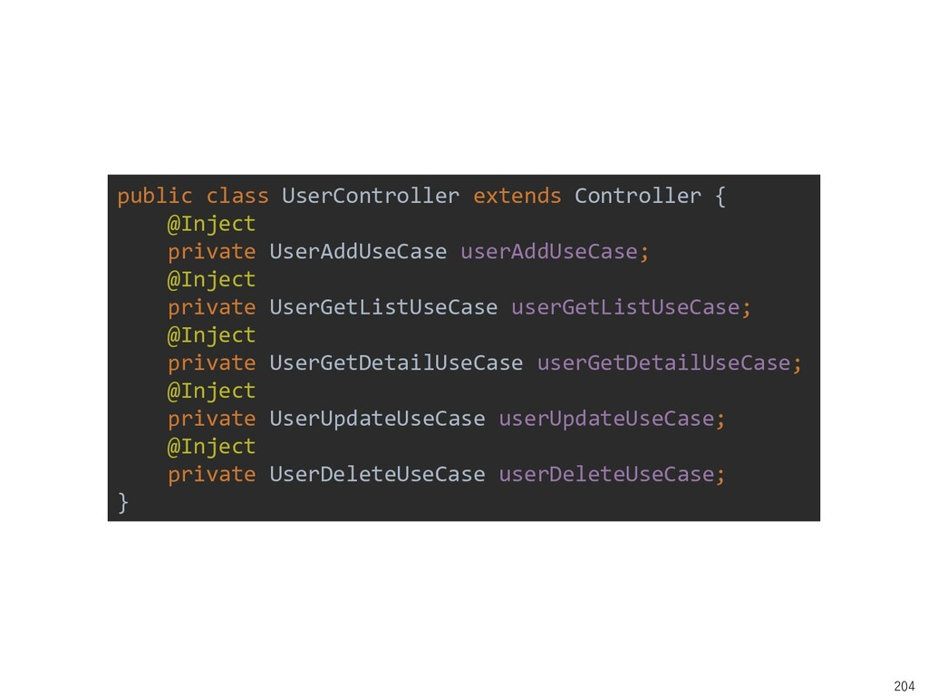 204 public class UserController extends Control...