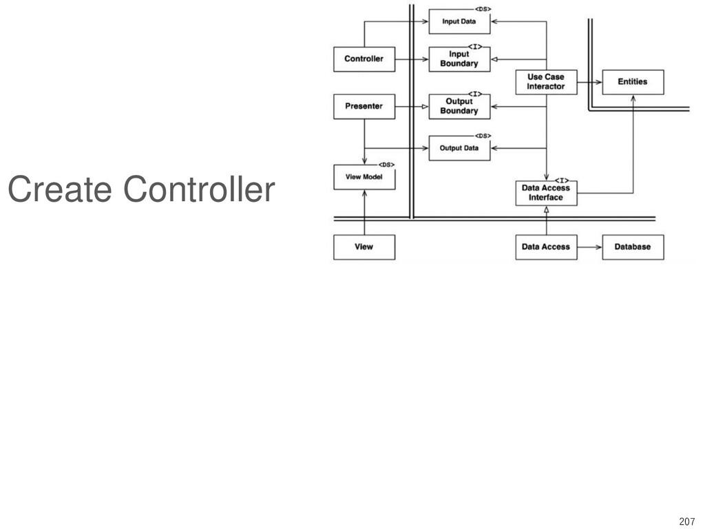 207 Create Controller