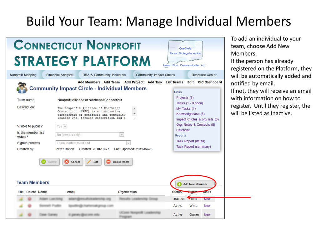 Build Your Team: Manage Individual Members To a...
