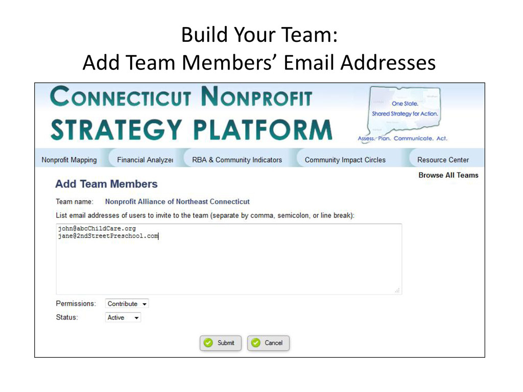 Build Your Team: Add Team Members' Email Addres...