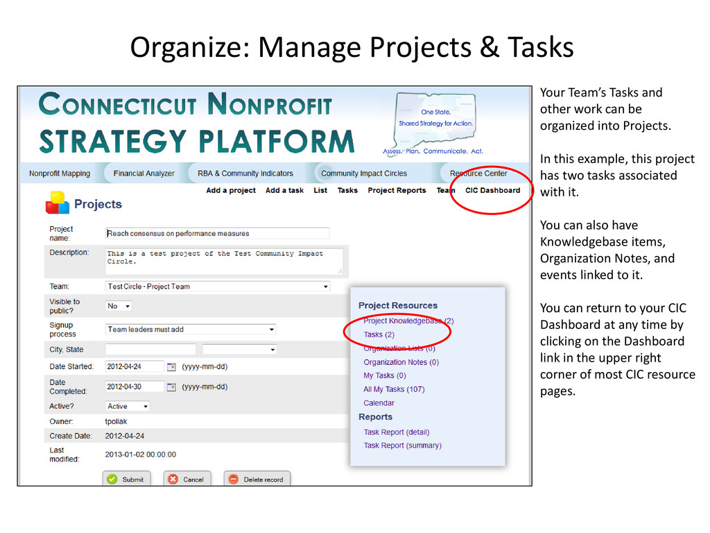 Your Team's Tasks and other work can be organiz...