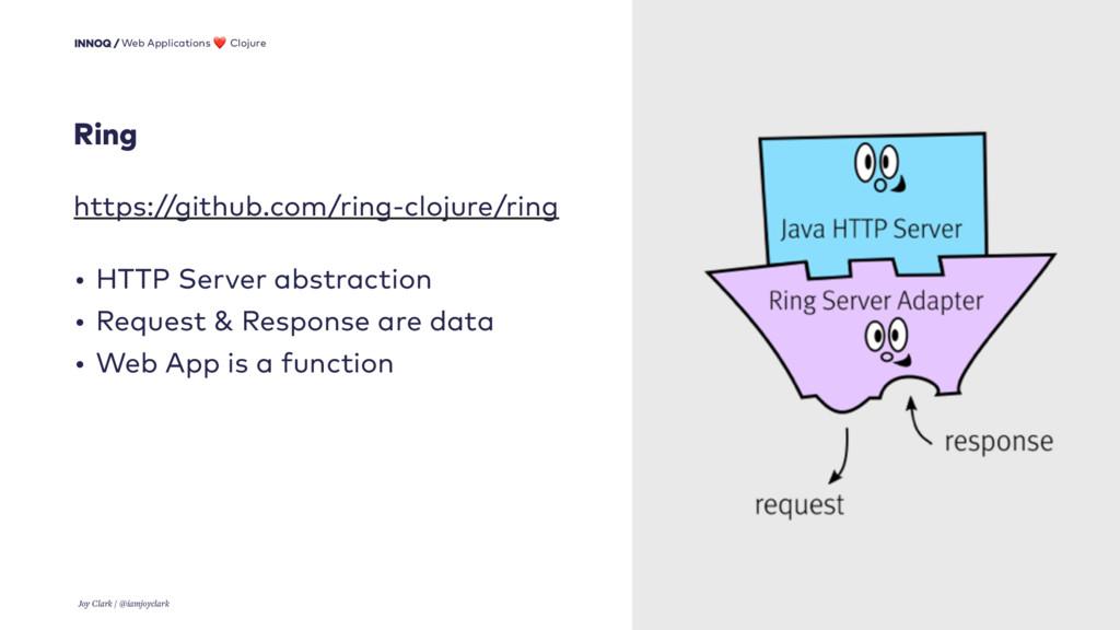 15 https://github.com/ring-clojure/ring • HTTP ...