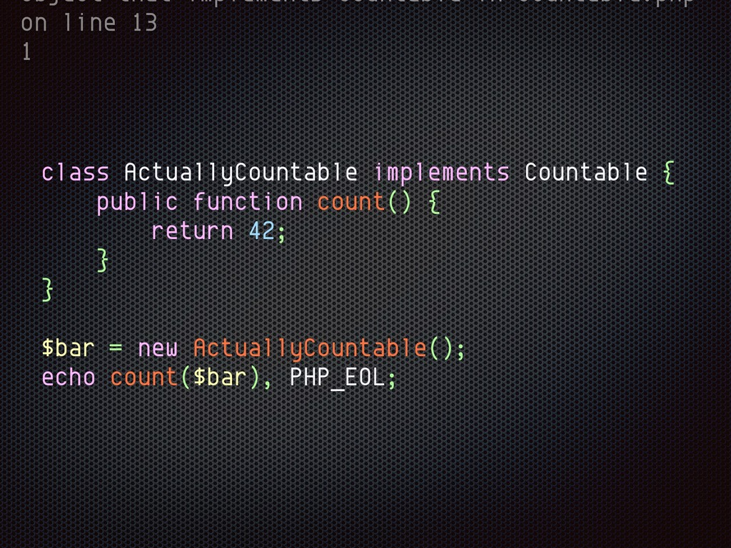 object that implements Countable in Countable.p...