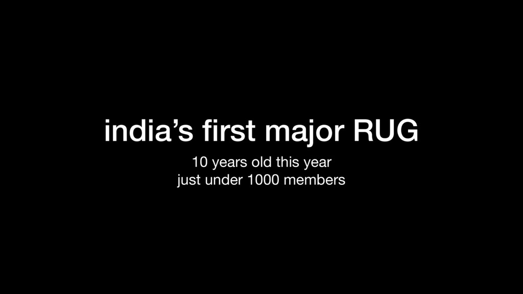 india's first major RUG 10 years old this year  ...