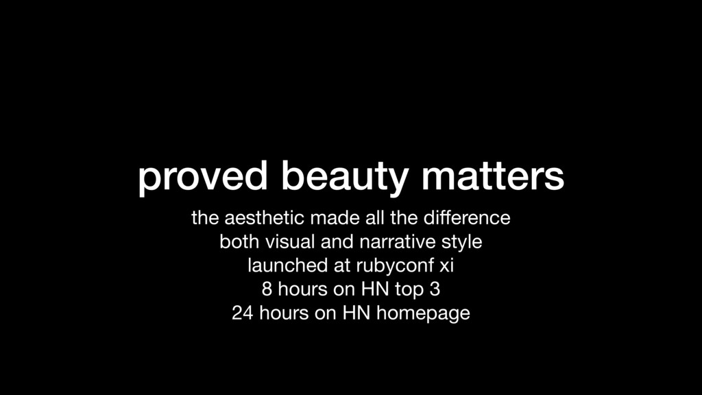 proved beauty matters the aesthetic made all th...