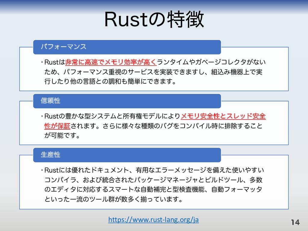 3VTUͷಛ https://www.rust-lang.org/ja w3VTUඇৗʹߴ...