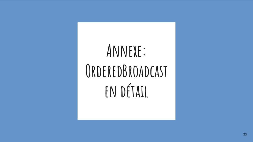 Annexe: OrderedBroadcast en détail 35
