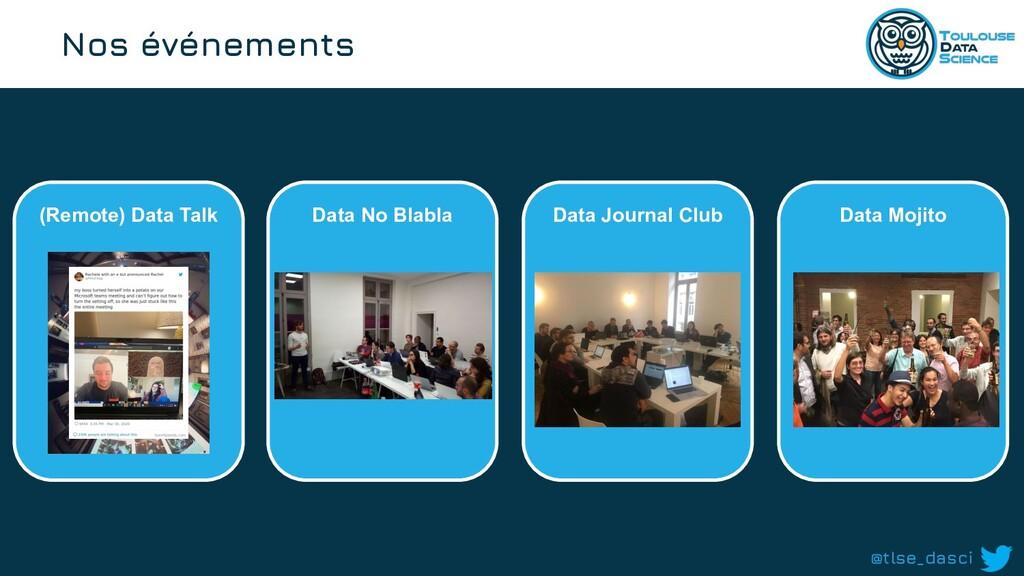@tlse_dasci Nos événements (Remote) Data Talk D...