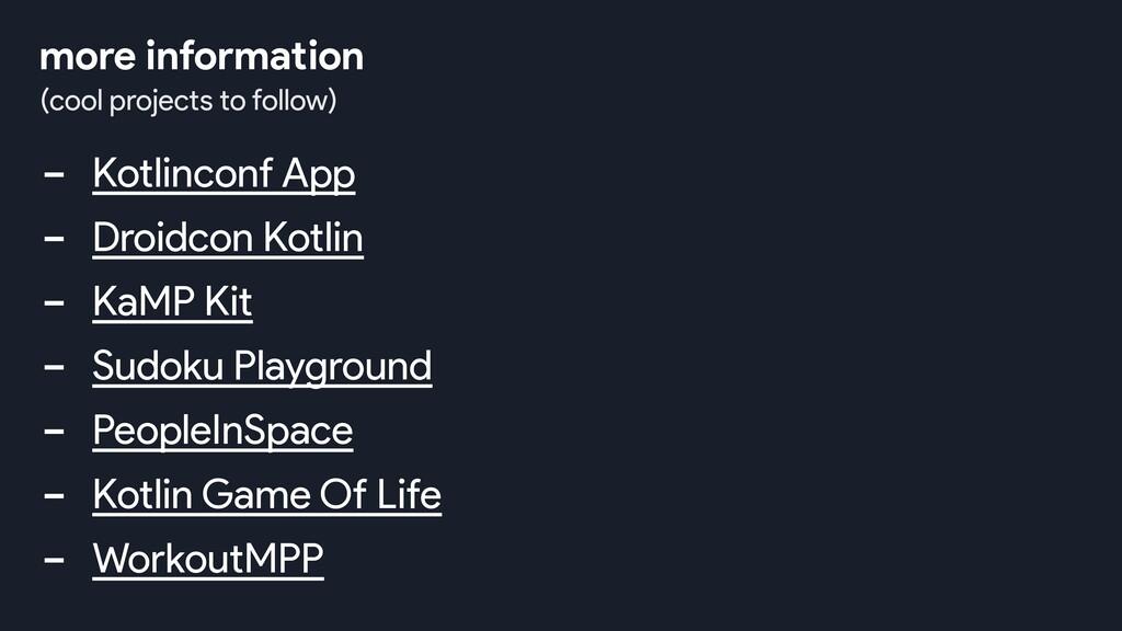 - Kotlinconf App - Droidcon Kotlin - KaMP Kit -...