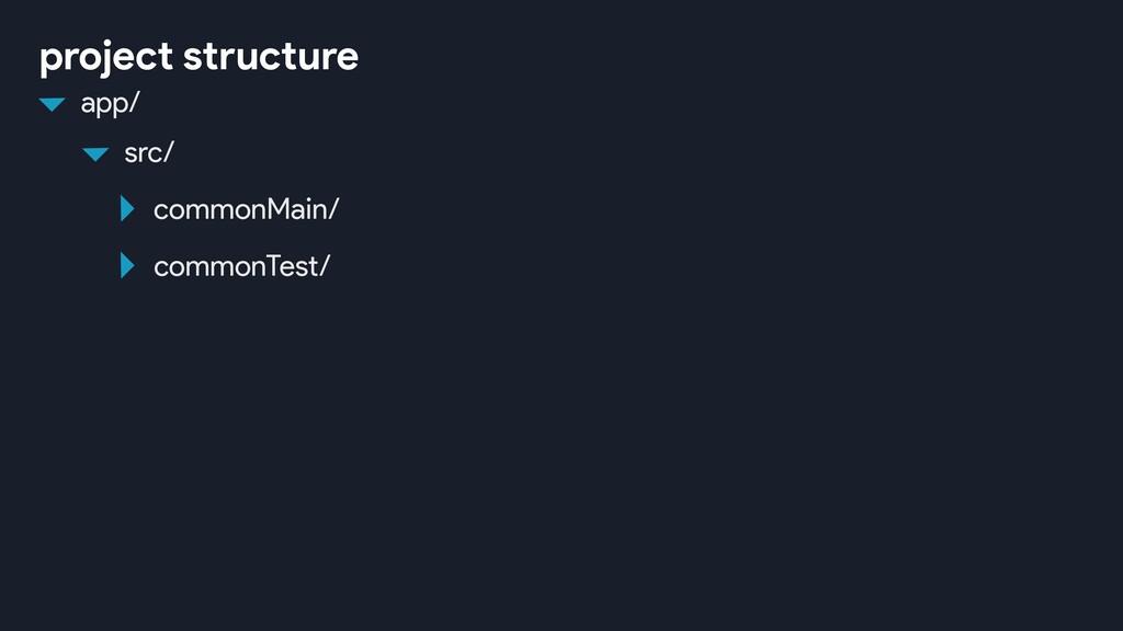 src/ commonMain/ commonTest/ app/ project struc...