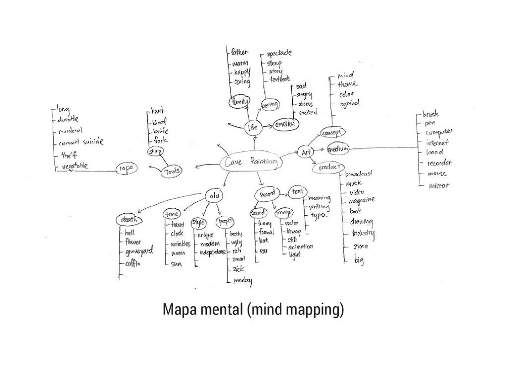 Mapa mental (mind mapping)