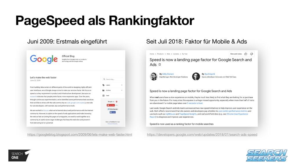 PageSpeed als Rankingfaktor Seit Juli 2018: Fak...