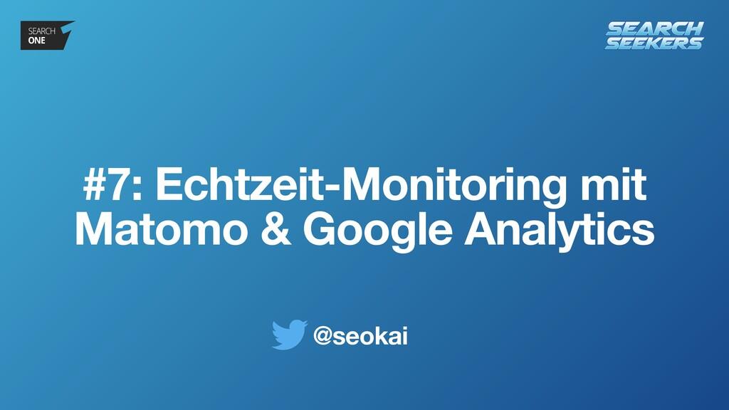@seokai #7: Echtzeit-Monitoring mit Matomo & Go...