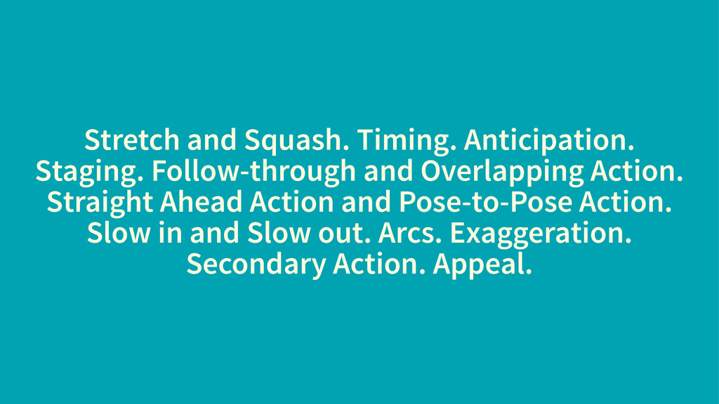 Stretch and Squash. Timing. Anticipation. Stagi...