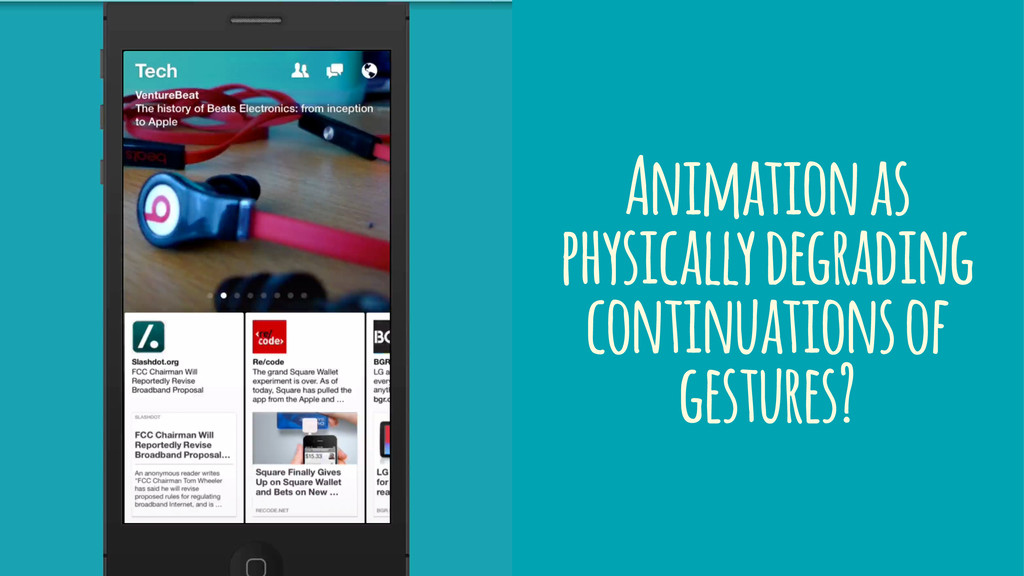 Animation as physically degrading continuations...