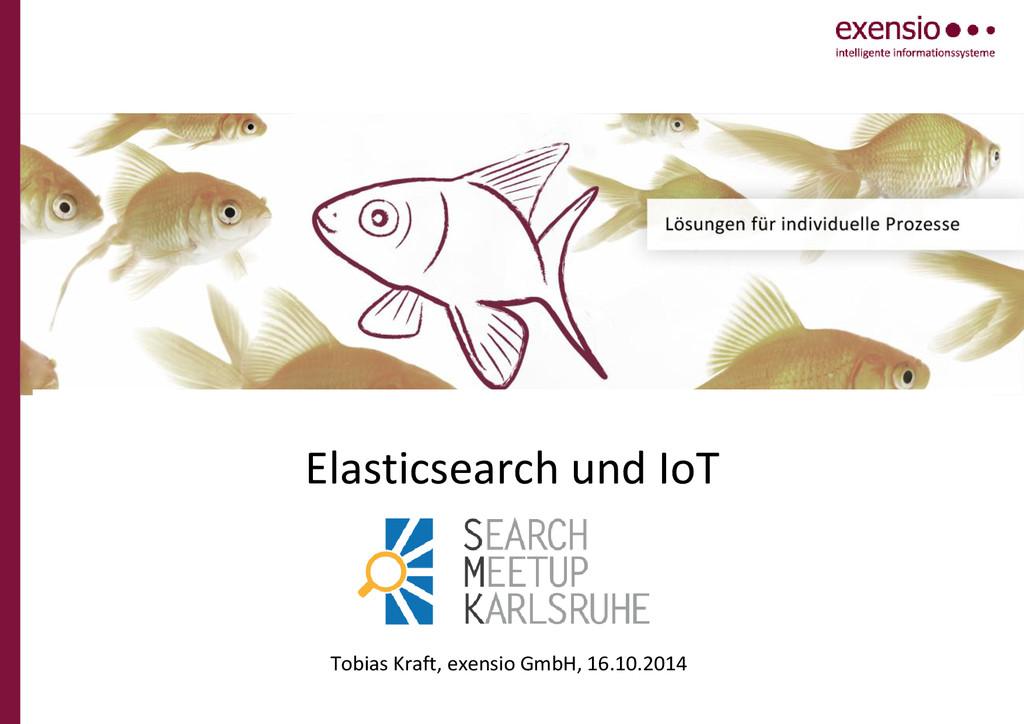 Elasticsearch und IoT Tobias Kraft, exensio Gmb...