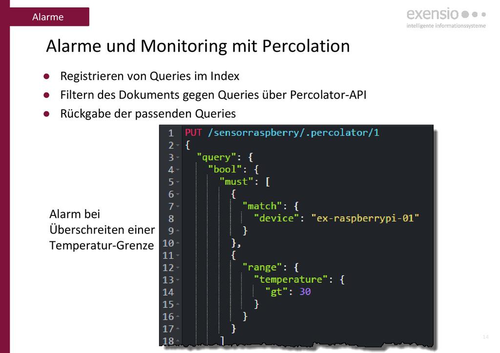 14 Alarme und Monitoring mit Percolation ● Regi...