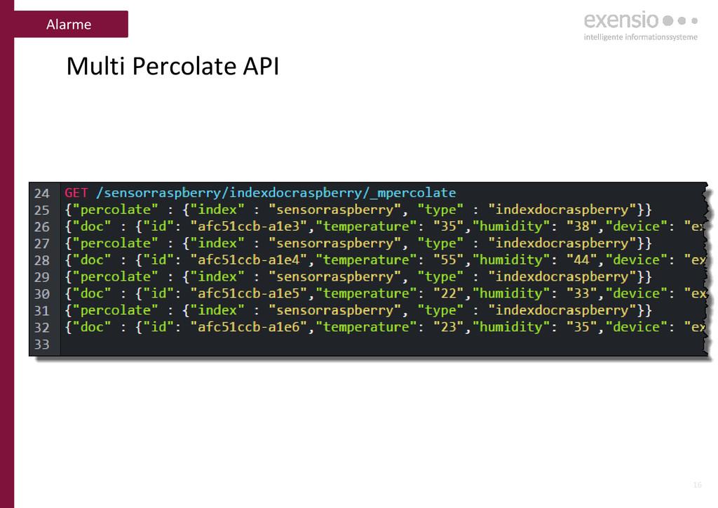 16 Multi Percolate API Alarme