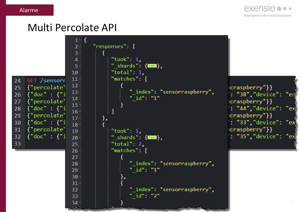 17 Multi Percolate API Alarme