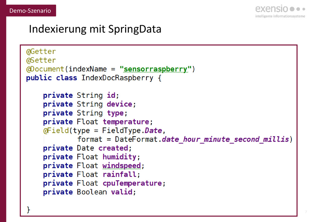 7 Indexierung mit SpringData Demo-Szenario