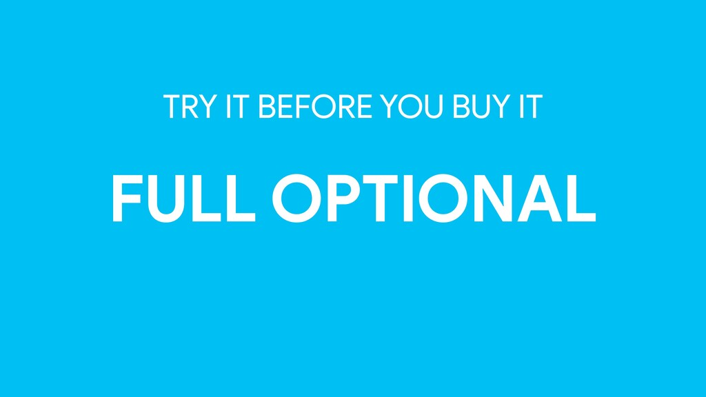 TRY IT BEFORE YOU BUY IT FULL OPTIONAL