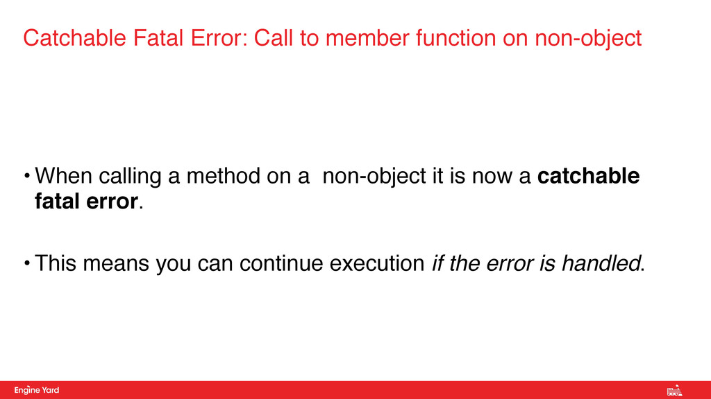 • When calling a method on a non-object it is n...