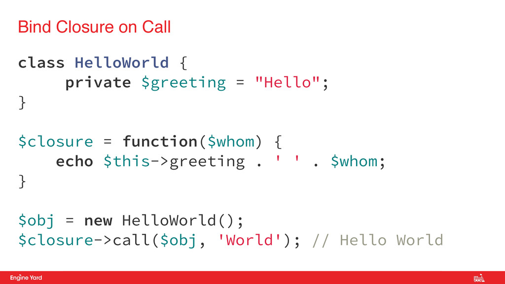 Proprietary and Confidential class HelloWorld {...