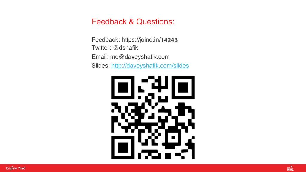 Feedback & Questions:  Feedback: https://joind...