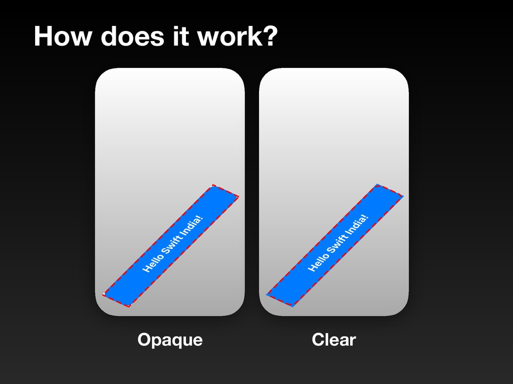 How does it work? Opaque Clear