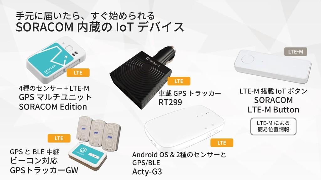 4種のセンサー + LTE-M GPS マルチユニット SORACOM Edition GPS...