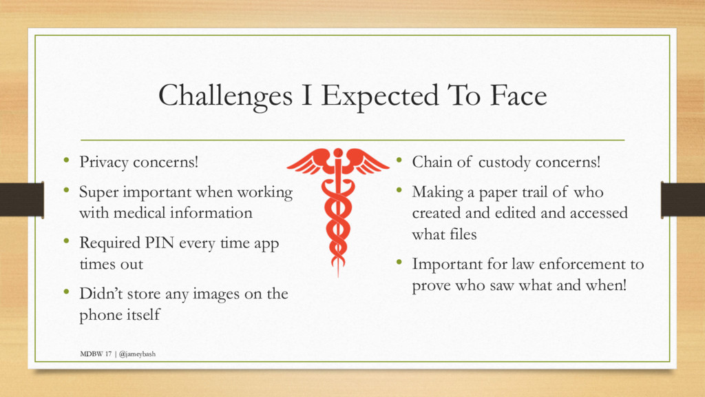 Challenges I Expected To Face • Privacy concern...