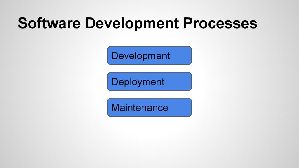 Software Development Processes Development Depl...