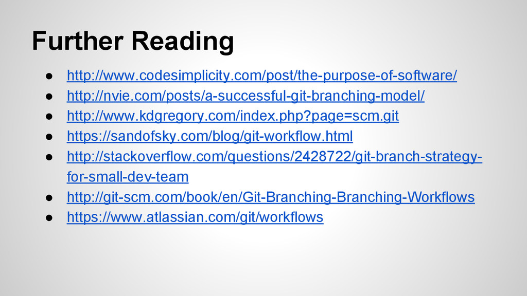 Further Reading ● http://www.codesimplicity.com...