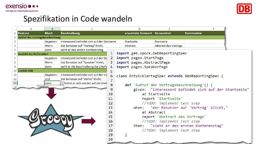 13 Spezifikation in Code wandeln