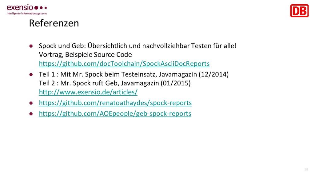29 Referenzen ● Spock und Geb: Übersichtlich un...