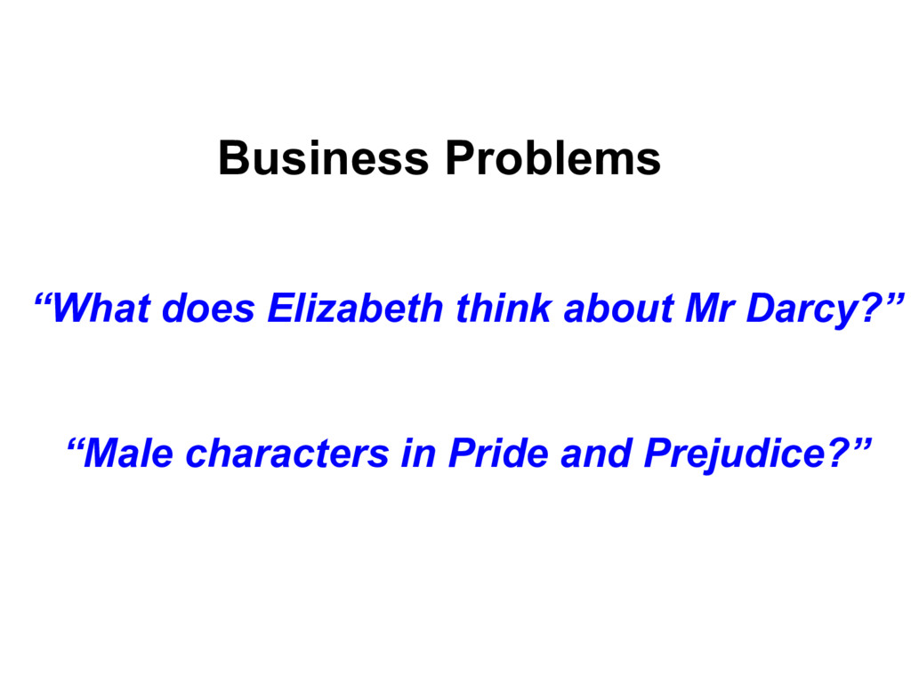 """Business Problems """"What does Elizabeth think ab..."""