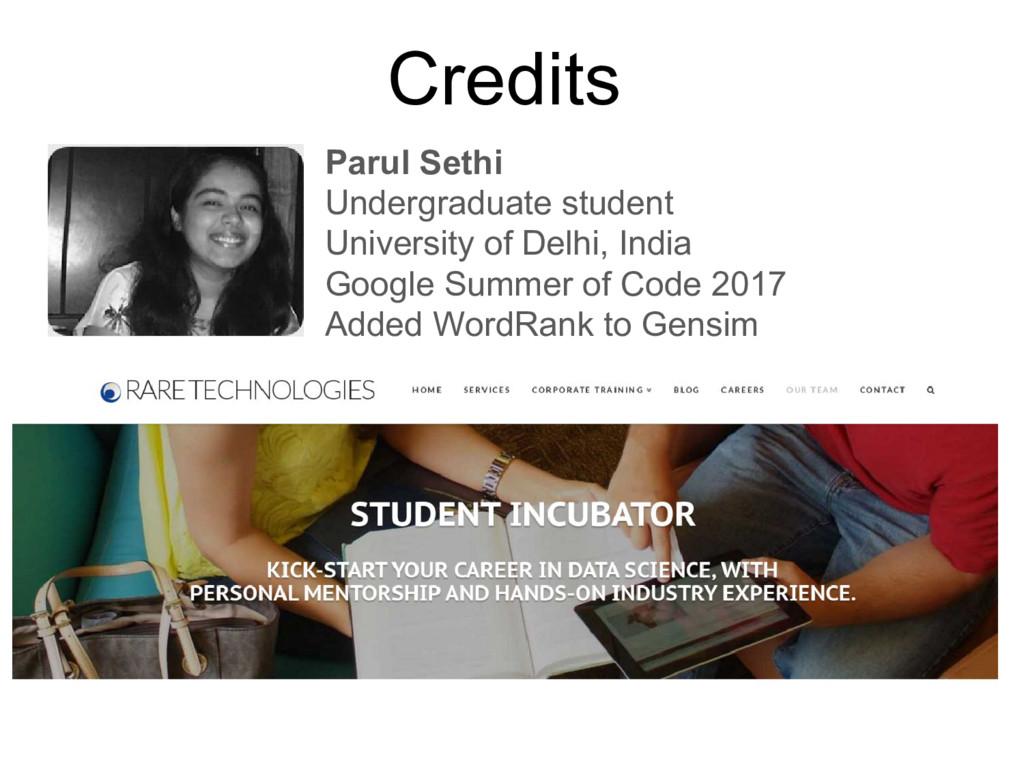 Parul Sethi Undergraduate student University of...