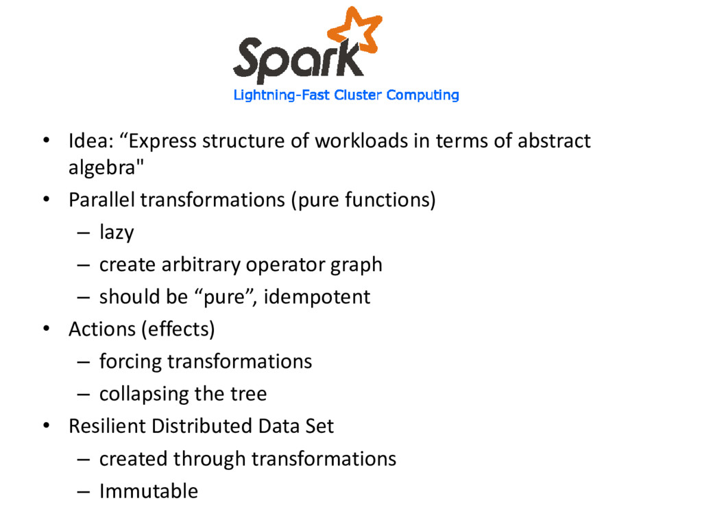 "• Idea: ""Express structure of workloads in term..."