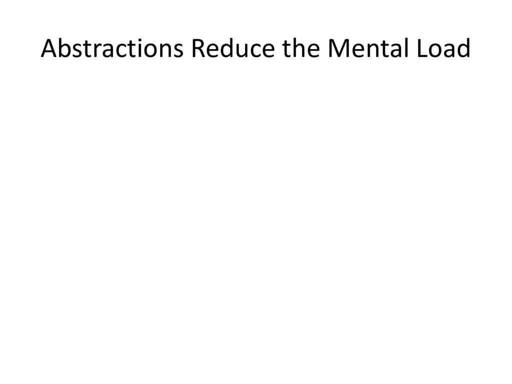 Abstractions Reduce the Mental Load