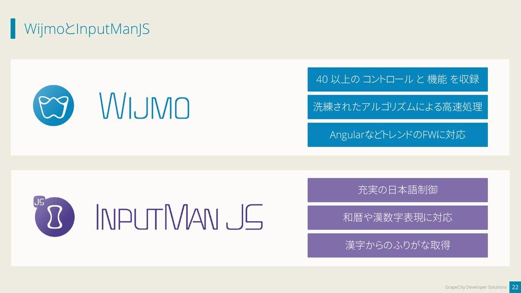 WijmoとInputManJS 22 GrapeCity Developer Solutio...