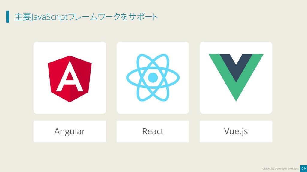 主要JavaScriptフレームワークをサポート 29 GrapeCity Developer...